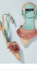 Anthropologie Lab Fringed D'orsay Flats